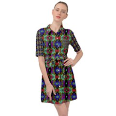 Abstract 11 Belted Shirt Dress