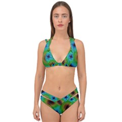 Kaleidoscope Art Unique Design Double Strap Halter Bikini Set