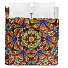 Geometric Pattern Kaleidoscope Art Mirror Image Mosaic Duvet Cover Double Side (queen Size)