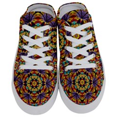 Geometric Pattern Kaleidoscope Art Mirror Image Mosaic Half Slippers by Vaneshart