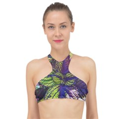 Dark Coleus High Neck Bikini Top