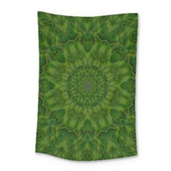 Fauna Nature Ornate Leaf Small Tapestry by pepitasart