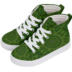 Fauna Nature Ornate Leaf Kids  Hi-top Skate Sneakers by pepitasart