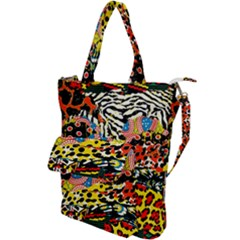 Ethnic Patchwork Shoulder Tote Bag by AyokaDesigns