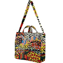 Ethnic Patchwork Square Shoulder Tote Bag by AyokaDesigns