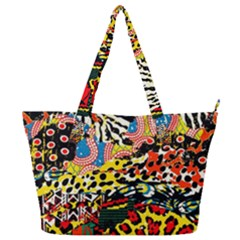 Ethnic Patchwork Full Print Shoulder Bag by AyokaDesigns