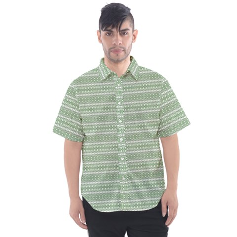 Green Charms Men s Short Sleeve Shirt by plaides