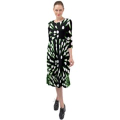 Bacteria Bacterial Species Imitation Ruffle End Midi Chiffon Dress