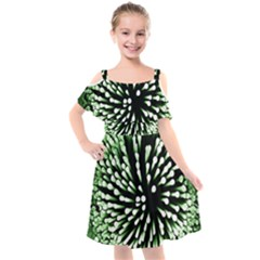 Bacteria Bacterial Species Imitation Kids  Cut Out Shoulders Chiffon Dress