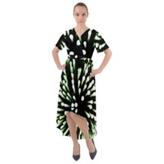 Bacteria Bacterial Species Imitation Front Wrap High Low Dress