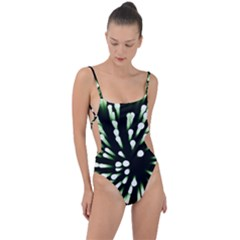 Bacteria Bacterial Species Imitation Tie Strap One Piece Swimsuit