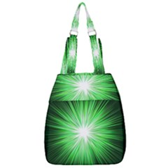 Green Blast Background Center Zip Backpack