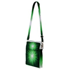 Green Blast Background Multi Function Travel Bag