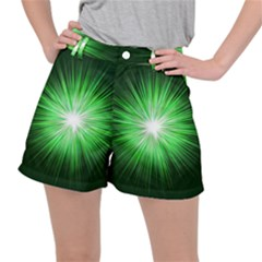 Green Blast Background Ripstop Shorts