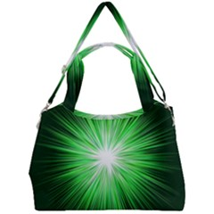 Green Blast Background Double Compartment Shoulder Bag