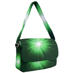 Green Blast Background Courier Bag