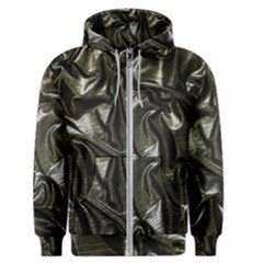 Metallic Silver Satin Men s Zipper Hoodie by retrotoomoderndesigns