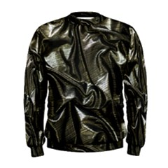 Metallic Silver Satin Men s Sweatshirt by retrotoomoderndesigns