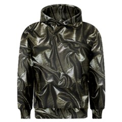 Metallic Silver Satin Men s Overhead Hoodie by retrotoomoderndesigns