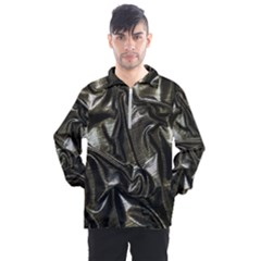 Metallic Silver Satin Men s Half Zip Pullover by retrotoomoderndesigns
