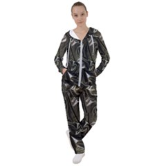 Metallic Silver Satin Women s Tracksuit by retrotoomoderndesigns