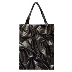 Metallic Silver Satin Classic Tote Bag by retrotoomoderndesigns