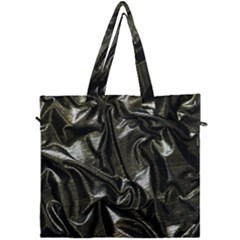 Metallic Silver Satin Canvas Travel Bag by retrotoomoderndesigns