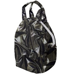 Metallic Silver Satin Travel Backpacks by retrotoomoderndesigns