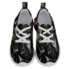 Metallic Silver Satin Running Shoes by retrotoomoderndesigns