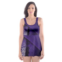 Violet Skater Dress Swimsuit