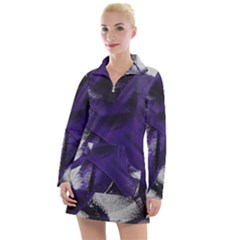 Violet Women s Long Sleeve Casual Dress