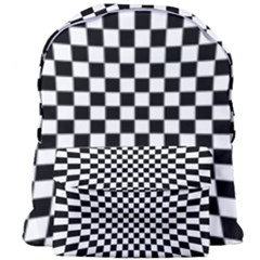 Illusion Checkerboard Black And White Pattern Giant Full Print Backpack