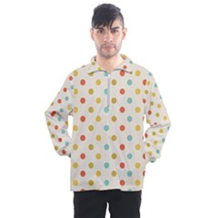 Polka Dots Dot Spots Men s Half Zip Pullover