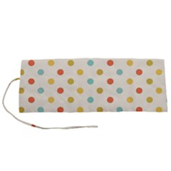 Polka Dots Dot Spots Roll Up Canvas Pencil Holder (s)
