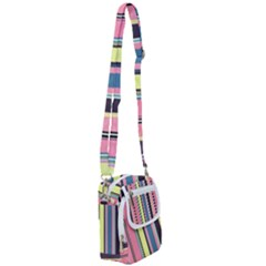 Stripes Colorful Wallpaper Seamless Shoulder Strap Belt Bag