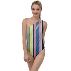 Stripes Colorful Wallpaper Seamless To One Side Swimsuit by Vaneshart