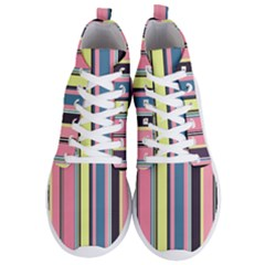 Stripes Colorful Wallpaper Seamless Men s Lightweight High Top Sneakers