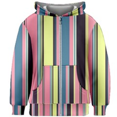 Stripes Colorful Wallpaper Seamless Kids  Zipper Hoodie Without Drawstring by Vaneshart