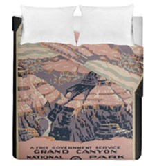 Vintage Travel Poster Grand Canyon Duvet Cover Double Side (queen Size)