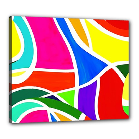 Abstract Background Canvas 24  X 20  (stretched)