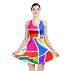 Abstract Background Reversible Skater Dress