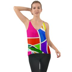 Abstract Background Chiffon Cami
