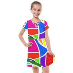 Abstract Background Kids  Cross Web Dress