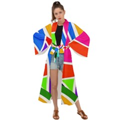 Abstract Background Maxi Kimono