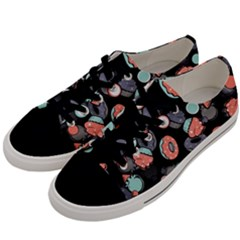 Seamless Sweets Background Men s Low Top Canvas Sneakers by Vaneshart