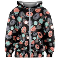 Seamless Sweets Background Kids  Zipper Hoodie Without Drawstring by Vaneshart