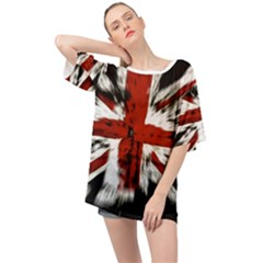 British Flag Oversized Chiffon Top