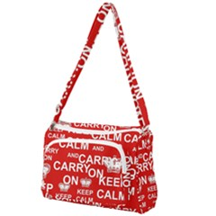 Keep Calm And Carry On Front Pocket Crossbody Bag