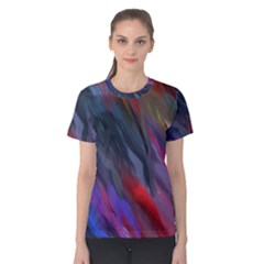 Abstract Paint Painting Watercolor Women s Cotton Tee