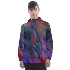 Abstract Paint Painting Watercolor Men s Front Pocket Pullover Windbreaker by Vaneshart